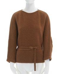 Veronique Leroy Camel Wool Knitwear - Brown