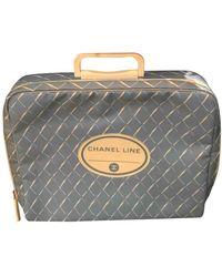 Chanel Borsa da viaggio in Tela - Blu
