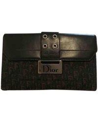 Dior Saddle Leder Portemonnaies - Schwarz