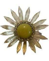 Marni Kristall Broschen - Gelb