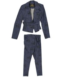 Vivienne Westwood - Navy Polyester Jumpsuits - Lyst