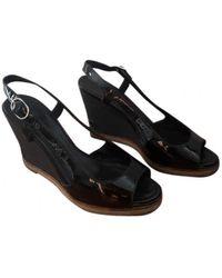 Chanel Sandales - Noir