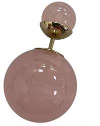 Dior Pink Metal Earrings