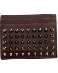 Christian Louboutin Burgundy Leather Small Bag Wallets & Cases - Multicolor