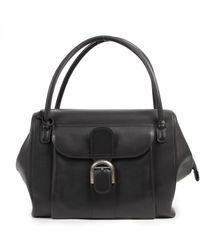 Delvaux Le Brillant Leather Handbag - Black