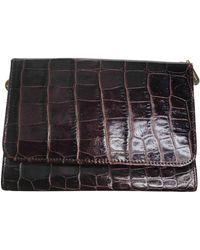 Lancel Leather Clutch Bag - Brown