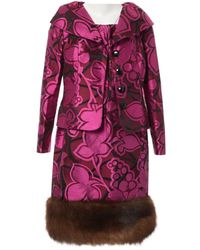 Oscar de la Renta Pink Silk Dress