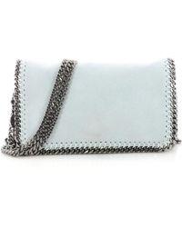 Stella McCartney - Falabella Blue Leather Handbag - Lyst