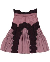 Zac Posen - Purple Silk Skirt - Lyst