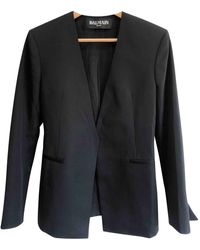 Balmain Wool Blazer - Black