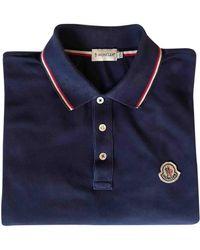 Moncler Polo in Cotone Blu