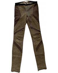 Helmut Lang Leather leggings - Brown