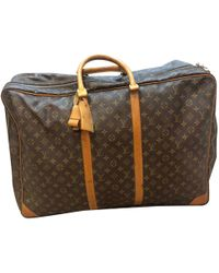 Louis Vuitton Pre-owned Travel Bag in Brown for Men - Lyst 84220f2ce698e