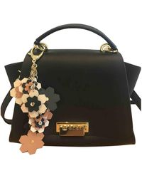Zac Posen Leather Handbag - Black
