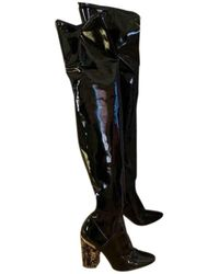 Dior Black Patent Leather Boots