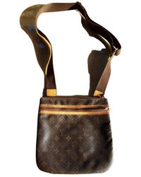 Louis Vuitton Bosphore Leather Small Bag - Brown