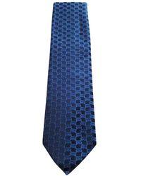 Louis Vuitton Blue Silk Tie
