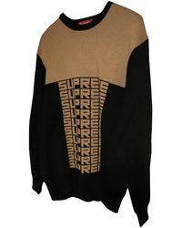 Supreme Black Cotton Knitwear & Sweatshirt