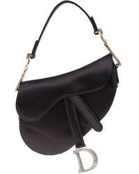 Dior Saddle Black Cloth Handbag