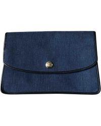 Céline - Pre-owned Vintage Blue Cloth Purses, Wallets & Cases - Lyst