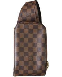 Louis Vuitton Geronimo Leinen taschen - Braun