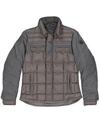 Moncler Abrigo en lana gris