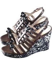 Marc By Marc Jacobs - Brown Leather Sandals - Lyst