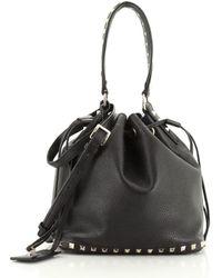 Valentino Rockstud Leder Handtaschen - Schwarz