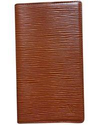 Louis Vuitton Piccola pelletteria in pelle marrone