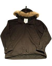 Supreme Black Cotton Coat