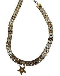 Dior Collar en metal dorado - Multicolor