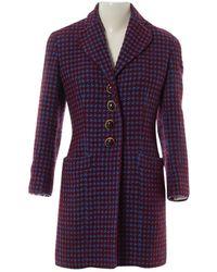 Dior Vintage Burgundy Wool Coats - Multicolour