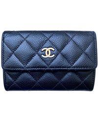 Chanel Timeless/Classique Leder Portemonnaies - Schwarz