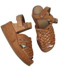 Junya Watanabe Leather Sandals - Multicolor