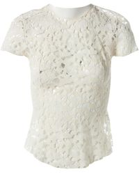 Nina Ricci Ecru Wool Top - White