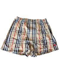 Burberry Shorts Baumwolle Braun - Blau