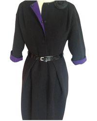Dior - Black Cashmere Coat - Lyst