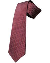 Hermès Cravates en Soie Bordeaux - Violet
