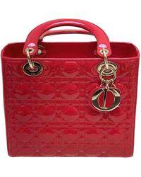 Dior Borsa Lady in Vernice - Rosso