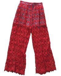 Stella Jean Large Pants - Red