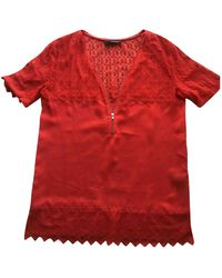 The Kooples Red Silk Top