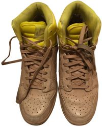 Nike Dunk Sky Leather Trainers - Natural