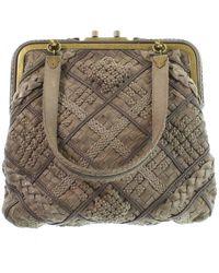 Bottega Veneta Leather Handbag - Natural