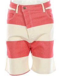 Vivienne Westwood Multicolor Cotton Shorts - Red