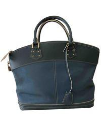 Louis Vuitton Bolsa de mano en cuero azul Lockit