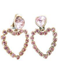 Oscar de la Renta Pink Gold Plated Earring