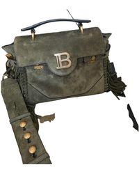 Balmain Bbuzz Crossbody Bag - Green
