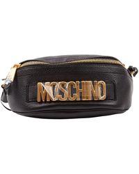 Moschino \n Black Leather Handbag