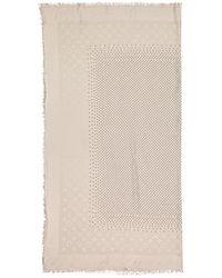 Louis Vuitton Châle Monogram Kaschmir Schals - Natur