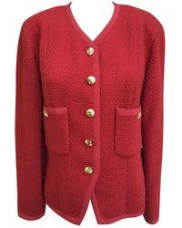 Chanel Tweed Kurze Jacke - Rot